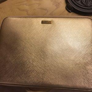 Gold Kate spade laptop sleeve